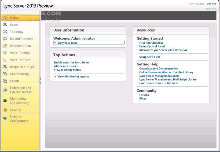 Microsoft Lync Server 2013 x64 2013 SP1 Client x86 x64 تصاویر نرم افزار  - سافت گذر