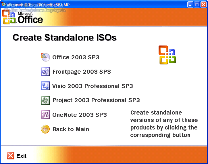 Microsoft Office 2003 with SP3 Complete DVD تصاویر نرم افزار  - سافت گذر