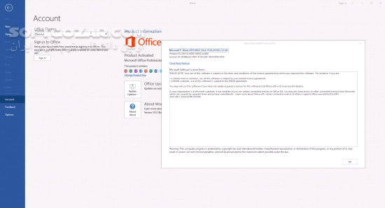 Office 2019 Pro Plus 1909 Build 12026 20334 incl Project Pro Vision Pro تصاویر نرم افزار  - سافت گذر