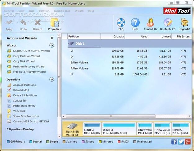 MiniTool Partition Wizard 11 5 Technician WinPE ISO Pro Ultimate 10 2 2 BootCD تصاویر نرم افزار  - سافت گذر