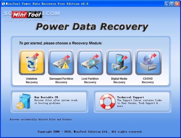 MiniTool Power Data Recovery Business Technician 8 1 Retail WinPE ISO تصاویر نرم افزار  - سافت گذر