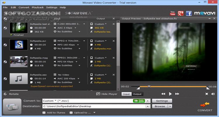 Movavi Video Converter 19 3 0 Premium macOS 19 0 0 تصاویر نرم افزار  - سافت گذر