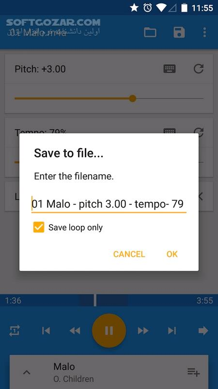 Music Speed Changer Full 8 5 5 for Android 4 1 تصاویر نرم افزار  - سافت گذر