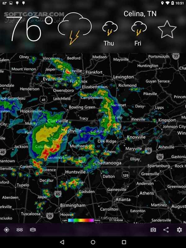 MyRadar Weather Radar Pro 7 5 0 For Android 4 0 3 تصاویر نرم افزار  - سافت گذر