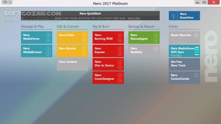 Nero Platinum 2018 Suite 19 0 10200 Content Packs Video Burning ROM Portable 2017 تصاویر نرم افزار  - سافت گذر