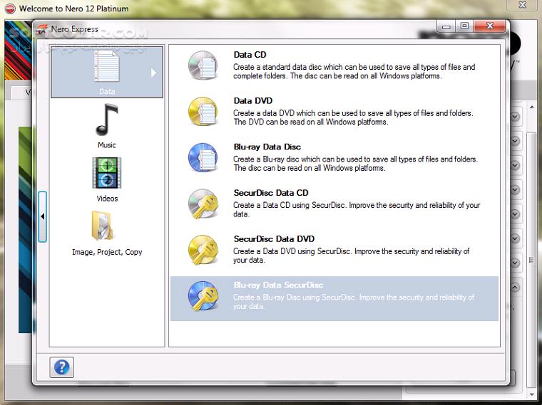 Nero Multimedia 12 5 01900 Platinum HD Burning ROM 12 5 01100 Lite Micro Content Pack Portable تصاویر نرم افزار  - سافت گذر