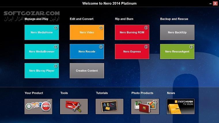 Nero Multimedia 15 0 10200 Platinum HD Burning ROM 15 0 05600 Content Pack Portable تصاویر نرم افزار  - سافت گذر