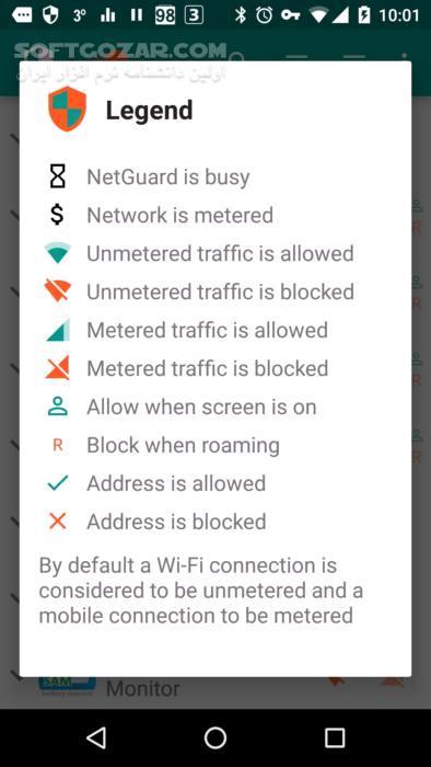 NetGuard Pro no root firewall 2 295 for Android 4 0 تصاویر نرم افزار  - سافت گذر