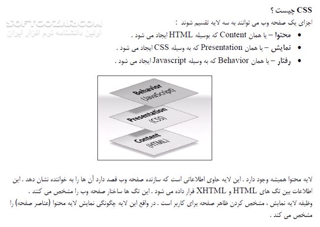 آموزش کاربردی CSS تصاویر نرم افزار  - سافت گذر