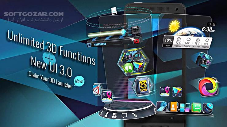 Next Launcher 3D 3 7 6 1 for Android 3 0 تصاویر نرم افزار  - سافت گذر