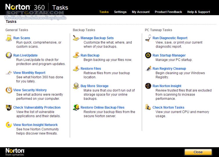 Norton 360 2019 v22 17 3 50 Offline Update تصاویر نرم افزار  - سافت گذر
