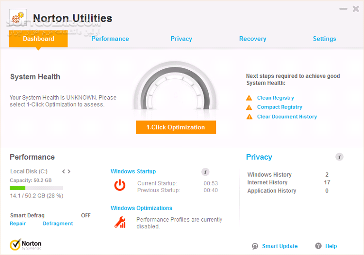 Symantec Norton Utilities 16 0 3 44 تصاویر نرم افزار  - سافت گذر