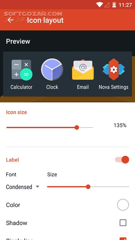 Nova Launcher Prime 6 1 11 TeslaUnread 5 1 2 for Android 4 1 تصاویر نرم افزار  - سافت گذر