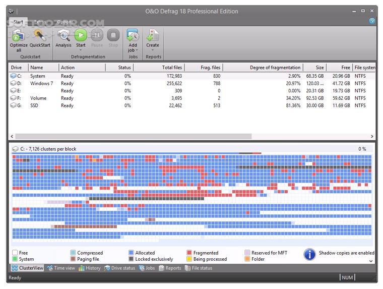 O O Defrag Professional Edition 22 1 2521 تصاویر نرم افزار  - سافت گذر
