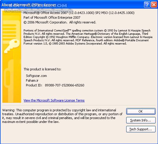Microsoft Office Professional Plus 2007 SP3 Build 12 0 6607 1000 Volume تصاویر نرم افزار  - سافت گذر