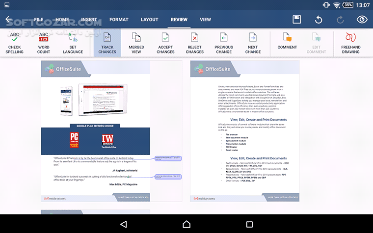 OfficeSuite Pro 10 10 22900 OfficeSuite Font Package 1 1 5 for Android 4 0 تصاویر نرم افزار  - سافت گذر