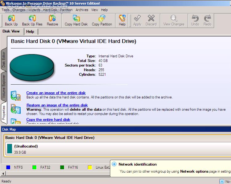 Paragon Drive Backup Server v10 0 10444 Advanced Recovery CD تصاویر نرم افزار  - سافت گذر