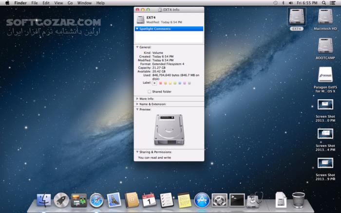 Paragon ExtFS for Mac 11 2 16 تصاویر نرم افزار  - سافت گذر