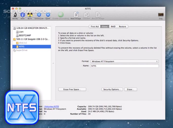 Paragon NTFS for Mac 15 4 59 15 4 44 15 2 319 تصاویر نرم افزار  - سافت گذر