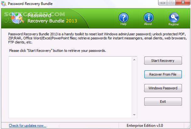 Password Recovery Bundle 2018 Professional Edition 4 6 Enterprise Portable تصاویر نرم افزار  - سافت گذر