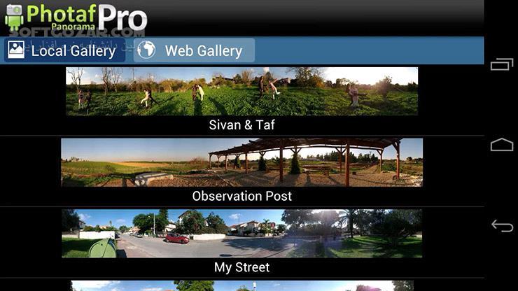 Photaf Panorama Pro 3 2 9 for Android 2 2 تصاویر نرم افزار  - سافت گذر