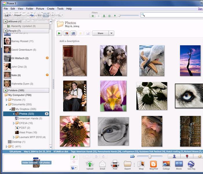 Picasa 3 9 141 Build 259 تصاویر نرم افزار  - سافت گذر