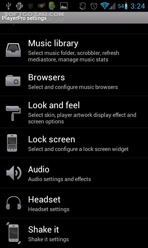 PlayerPro Music Player v5 6 for Android 2 1 تصاویر نرم افزار  - سافت گذر