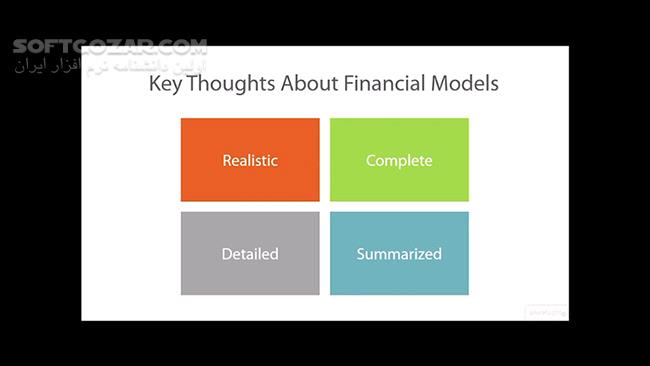 Pluralsight Financial Modeling for a Business Plan تصاویر نرم افزار  - سافت گذر