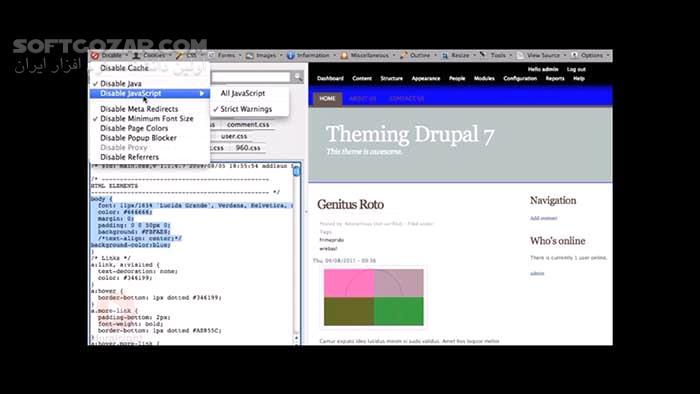 Pluralsight Theming Basics For Drupal 7 تصاویر نرم افزار  - سافت گذر
