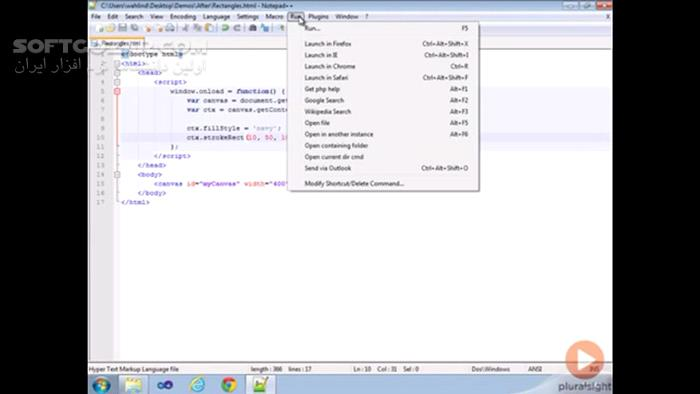 Pluralsight HTML5 Canvas Fundamentals تصاویر نرم افزار  - سافت گذر