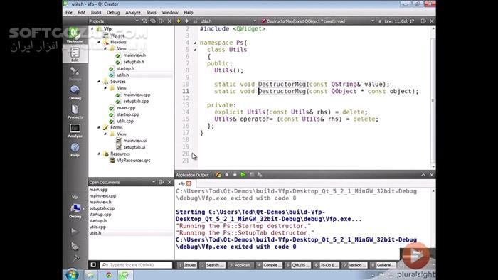 Pluralsight Introduction to Qt A C Cross Platform Application Framework تصاویر نرم افزار  - سافت گذر