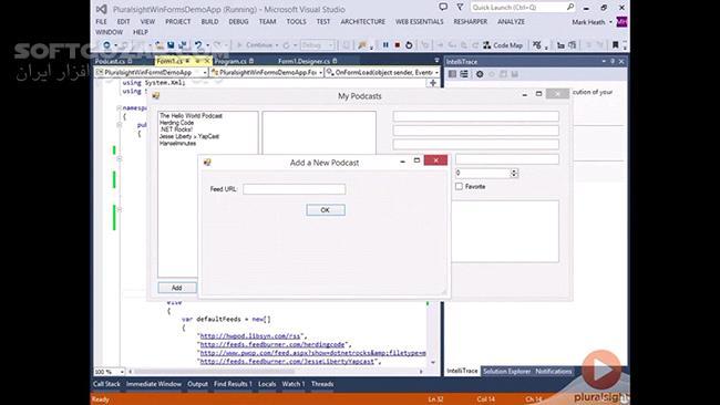 Pluralsight Windows Forms Best Practices تصاویر نرم افزار  - سافت گذر