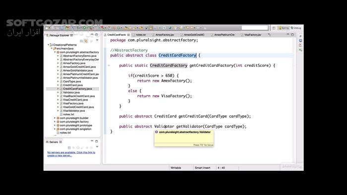 Pluralsight Design Patterns in Java Creational تصاویر نرم افزار  - سافت گذر