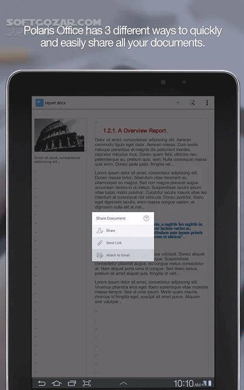 Polaris Office PDF 7 6 0 for Android 4 0 تصاویر نرم افزار  - سافت گذر