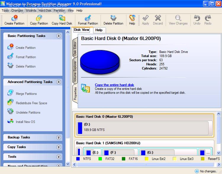 Paragon Partition Manager 11 Server v10 0 10 11287 Retail x86 x64 تصاویر نرم افزار  - سافت گذر