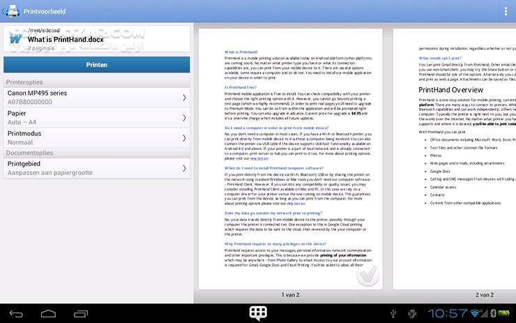 PrintHand Mobile Print Premium 12 18 1 for Android 2 1 تصاویر نرم افزار  - سافت گذر