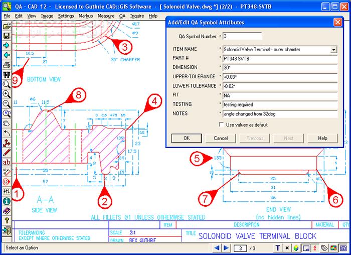 QA CAD 12 A 02 CAD Viewer 12 A 02 تصاویر نرم افزار  - سافت گذر