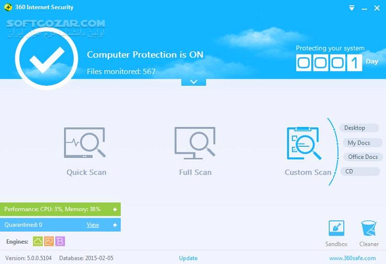 Qihoo 360 Total Security 10 6 0 1238 Essential 8 8 0 1118 Database macOS تصاویر نرم افزار  - سافت گذر