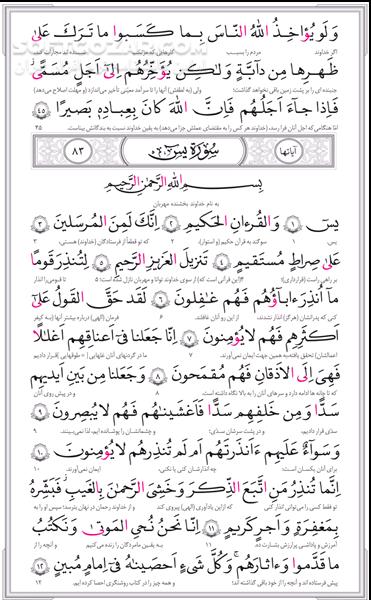 قرآن حکیم به همراه شرح آیات منتخب تصاویر نرم افزار  - سافت گذر