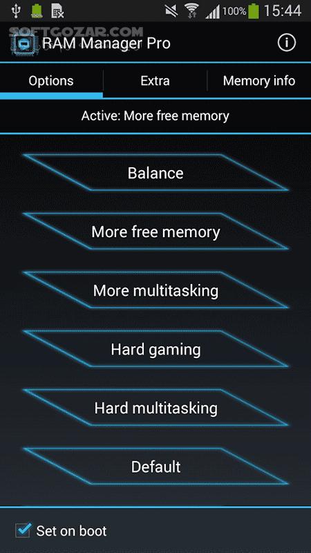 RAM Manager Pro 8 7 1 for Android 3 0 تصاویر نرم افزار  - سافت گذر