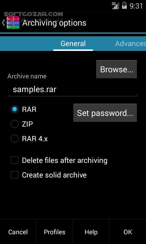 RAR for Android Premium 5 70 71 for Android 4 0 تصاویر نرم افزار  - سافت گذر