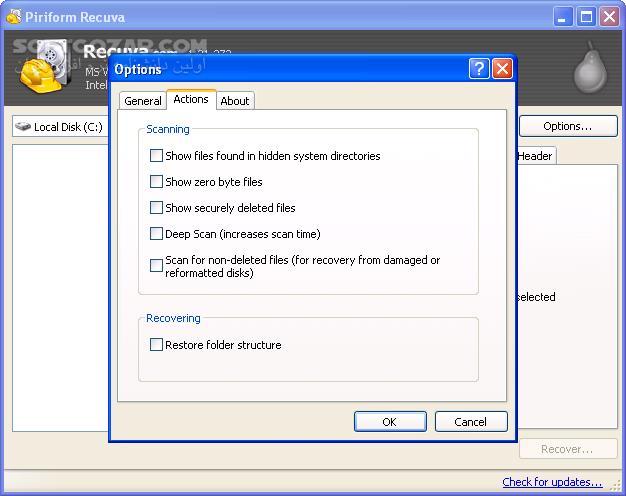 Recuva Professional 1 53 1087 Retail تصاویر نرم افزار  - سافت گذر