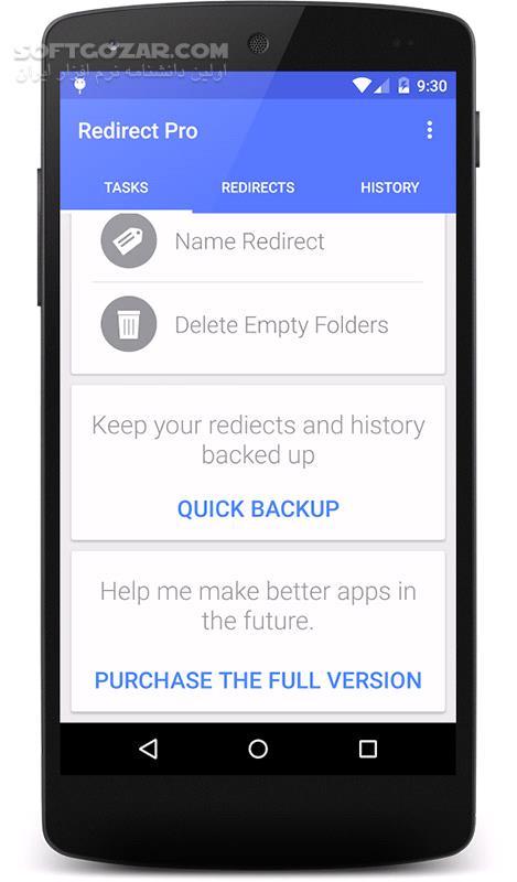 Redirect File Organizer Pro 3 0 1 for Android 4 0 تصاویر نرم افزار  - سافت گذر