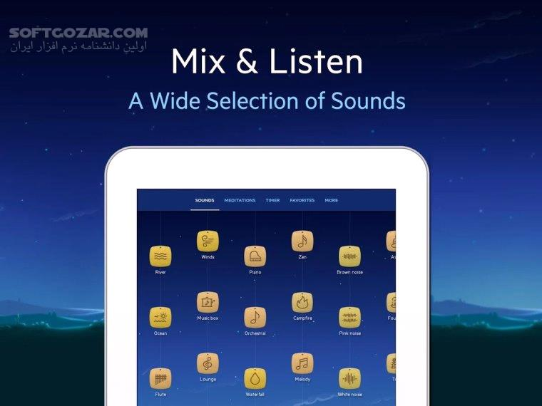 Relax Melodies Premium Sleep Sounds 7 9 616 for Android 2 2 تصاویر نرم افزار  - سافت گذر
