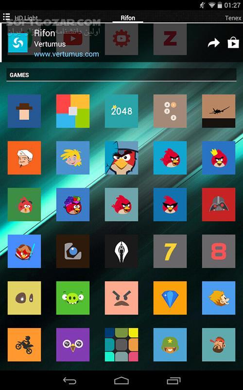 Rifon Icon 16 3 0 for Adnroid 4 0 تصاویر نرم افزار  - سافت گذر