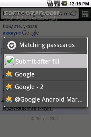 RoboForm 8 7 6 2 for Android 2 2 تصاویر نرم افزار  - سافت گذر