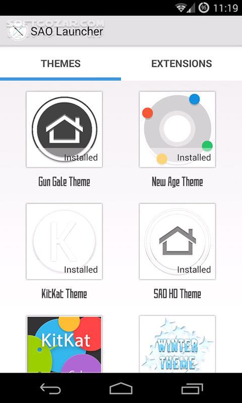 SAO Launcher PRO 3 0 4 Themes Extension for Adnroid 4 0 تصاویر نرم افزار  - سافت گذر