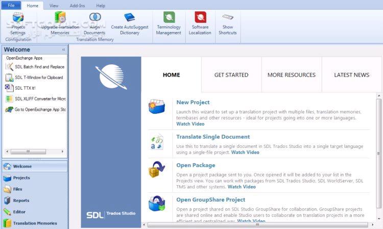 SDL Trados Studio 2019 Professional 15 0 1 36320 تصاویر نرم افزار  - سافت گذر