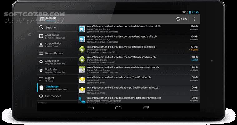 SD Maid Pro 4 14 34 for Android 4 1 تصاویر نرم افزار  - سافت گذر