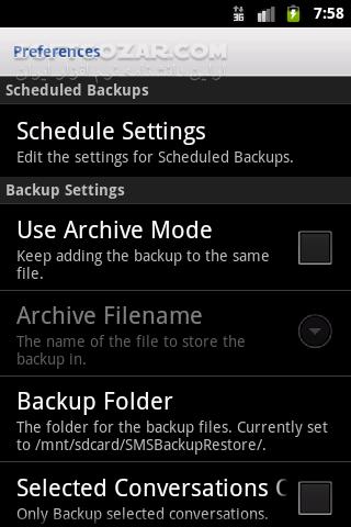SMS Backup Restore Pro 10 05 612 for Android 2 1 تصاویر نرم افزار  - سافت گذر